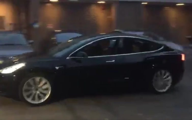 First 'release candidate' Tesla Model 3 driven: video posted by Elon Musk